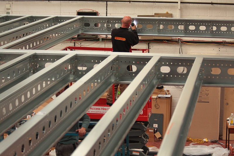 Installing a mezzanine floor for a customer | Mezzanine flooring John Scott Works